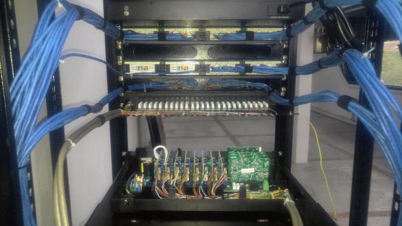 Cabeamento estruturado rack sp