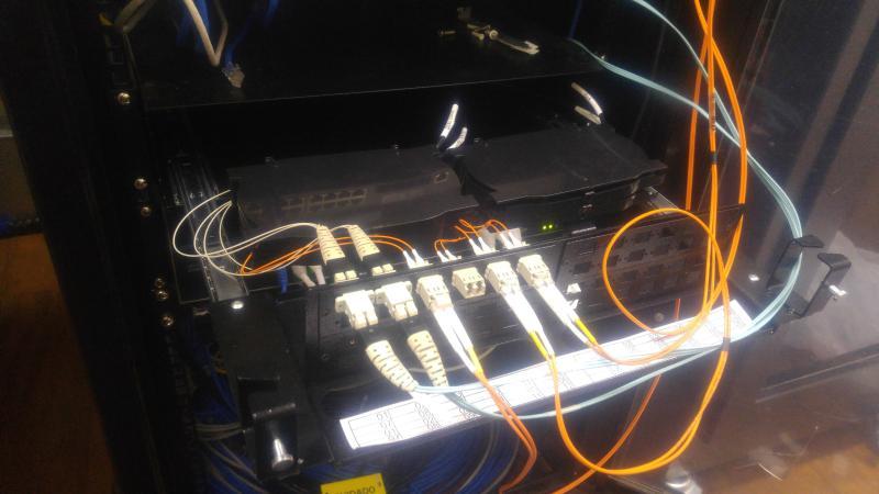 Cabeamento de fibra optica