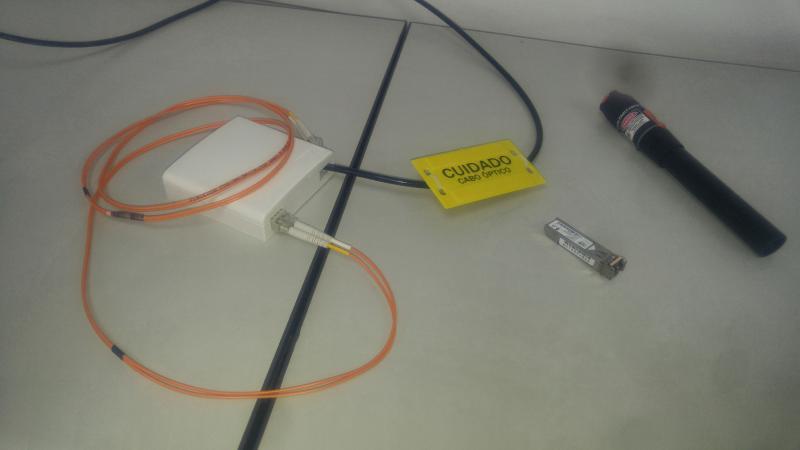 Instalação de fibra optica